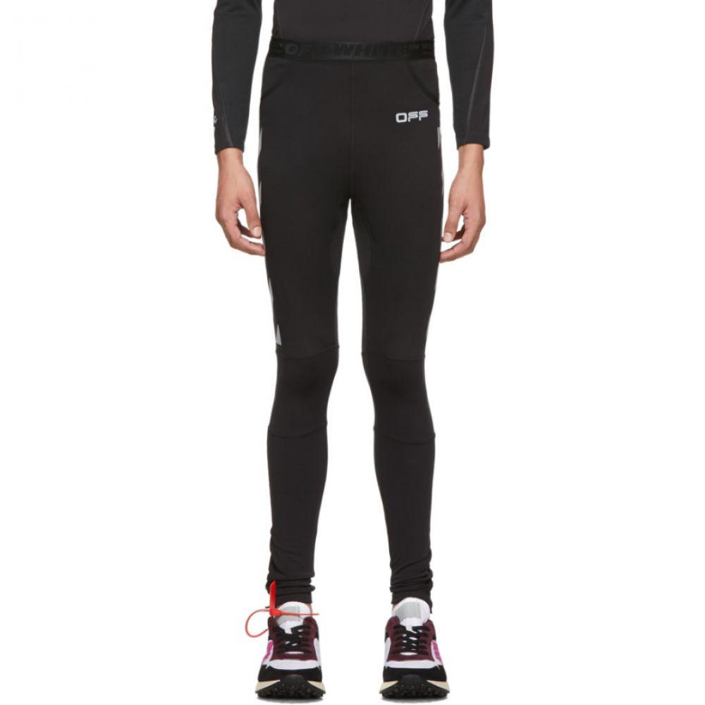 オフホワイト Off-White メンズ スウェット・ジャージ ボトムス・パンツ【Black & Silver Running Leggings】Black