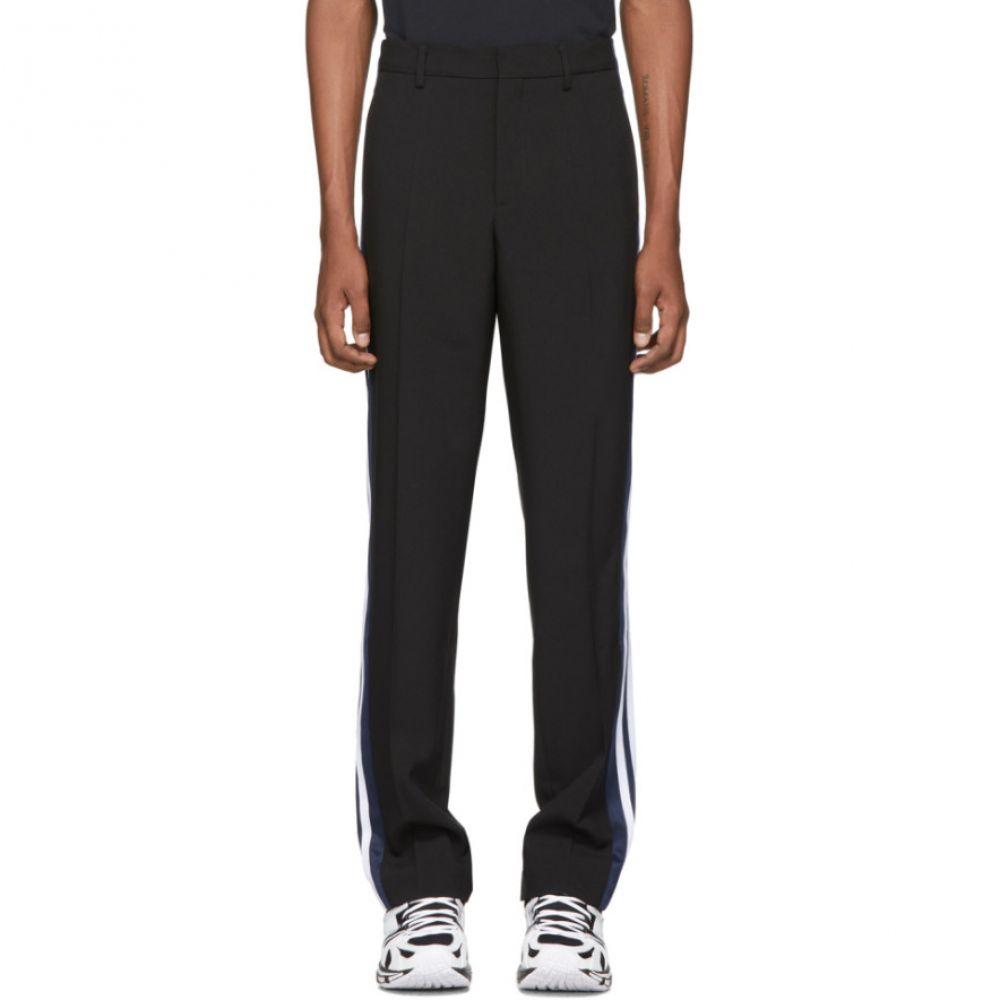 ヴェトモン VETEMENTS メンズ スウェット・ジャージ ボトムス・パンツ【Black Tailored Tracksuit Trousers】Black/Blue