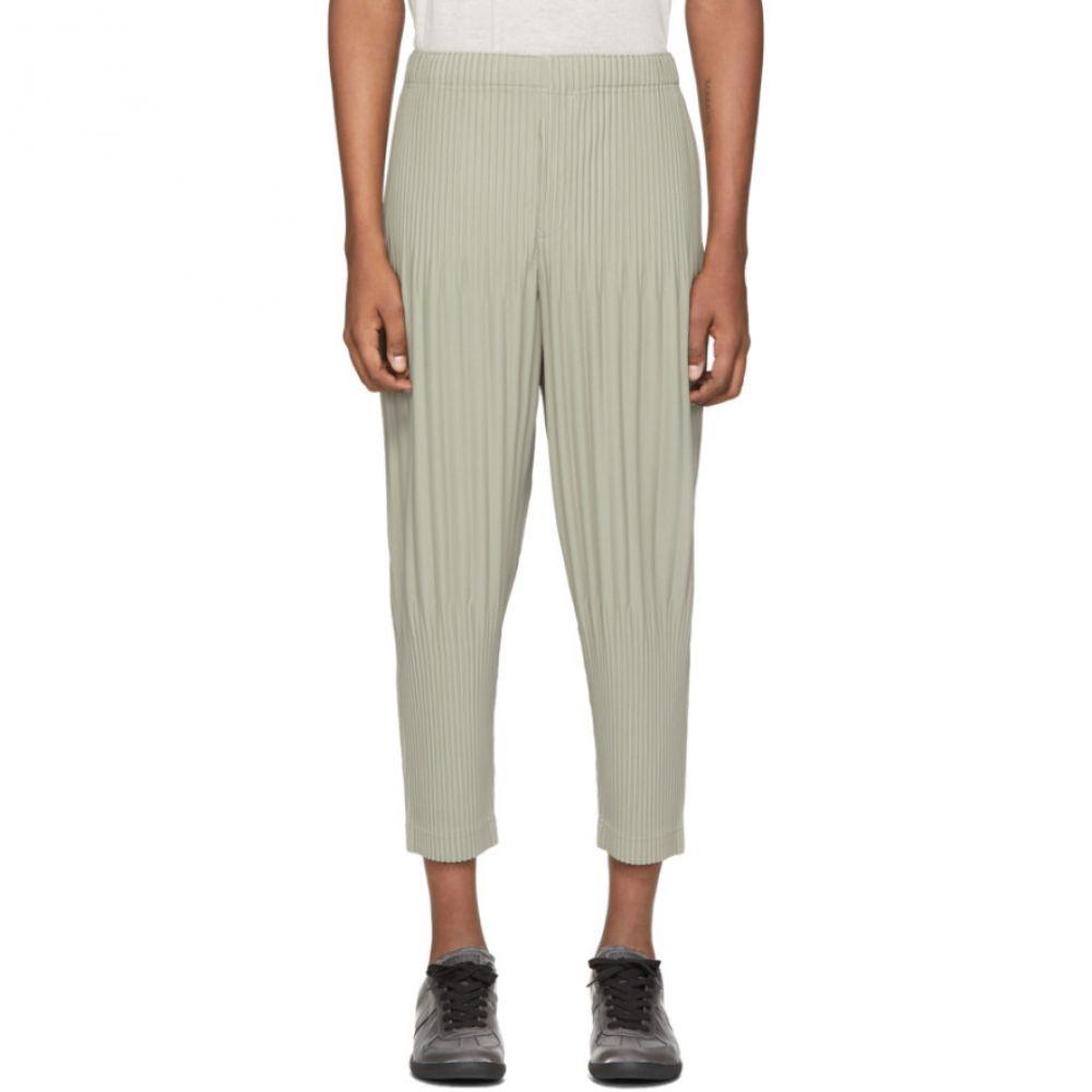 イッセイ ミヤケ Homme Plisse Issey Miyake メンズ ボトムス・パンツ 【Grey Tapered Bottom Trousers】Olive grey