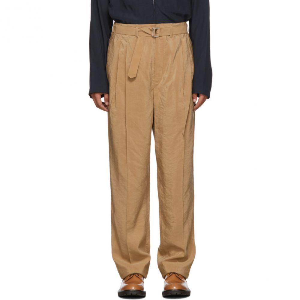 ルメール Lemaire メンズ ボトムス・パンツ 【Black Silk Pleated Trousers】Black