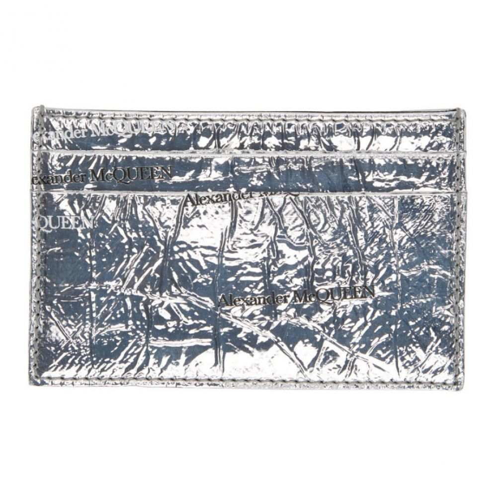 アレキサンダー マックイーン Alexander McQueen メンズ カードケース・名刺入れ カードホルダー【Silver Patent Card Holder】Silver