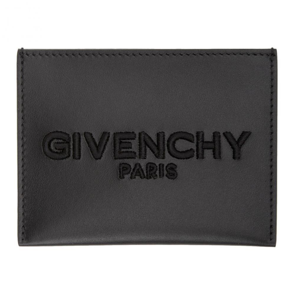 ジバンシー Givenchy メンズ カードケース・名刺入れ カードホルダー【Black Embroidered Logo Card Holder】Black