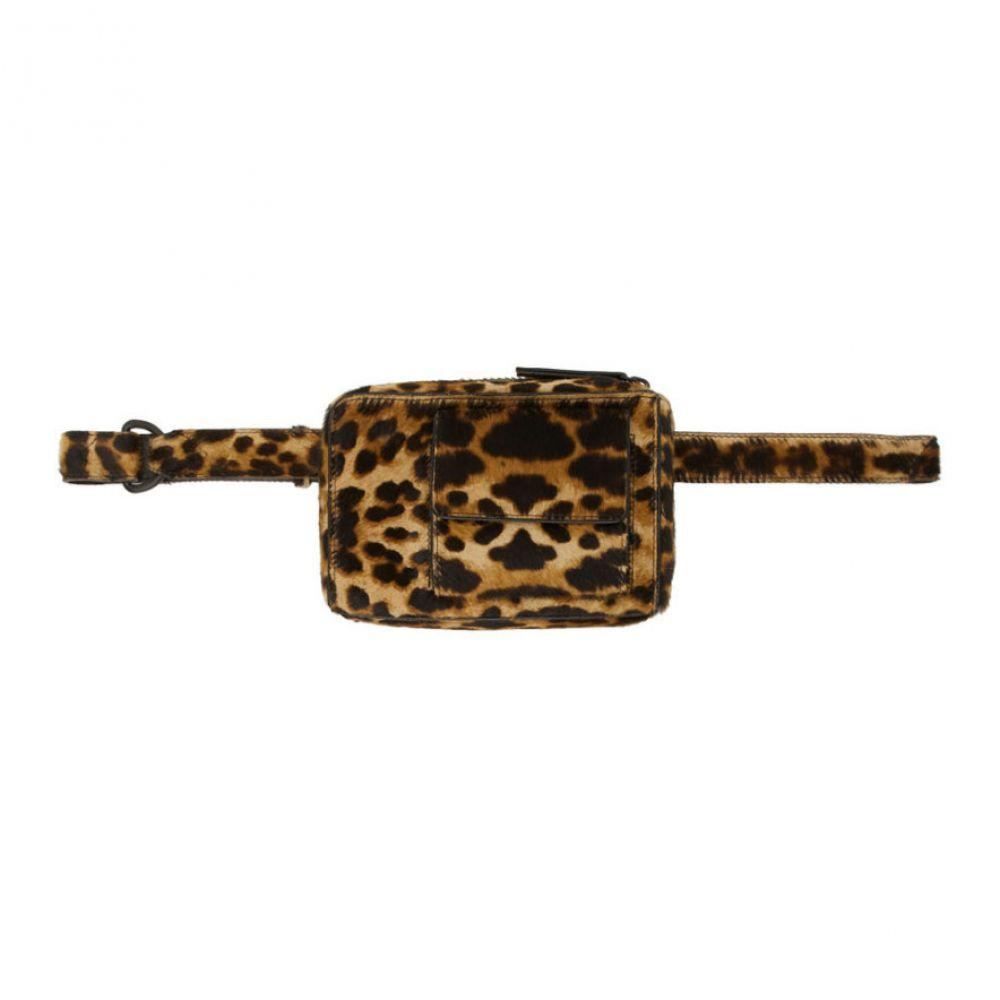 ドリス ヴァン ノッテン Dries Van Noten メンズ ポーチ 【Brown & Black Leopard Pouch】Camel leopard