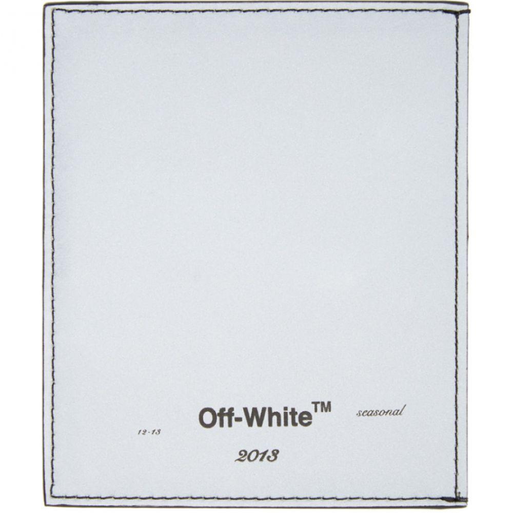 オフホワイト Off-White メンズ カードケース・名刺入れ カードホルダー【Silver & Black Logo Card Holder】Silver/Black