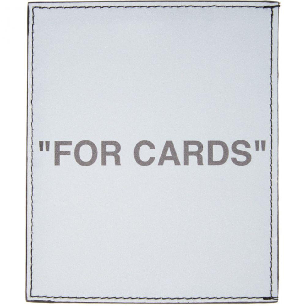 オフホワイト Off-White メンズ カードケース・名刺入れ カードホルダー【Silver Quote Card Holder】Silver/Black