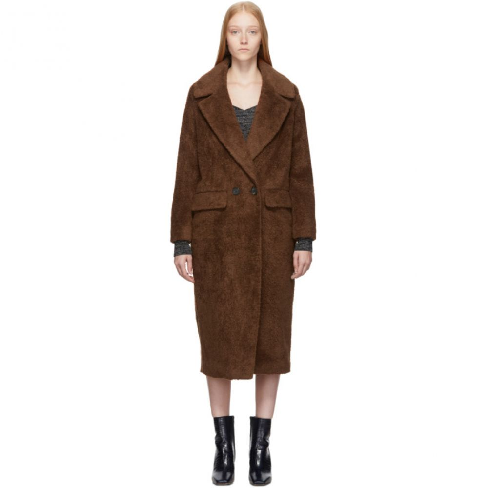 シチュアシオニスト The Loom レディース コート アウター【Brown Wool Faux-Fur Double Coat】Brown