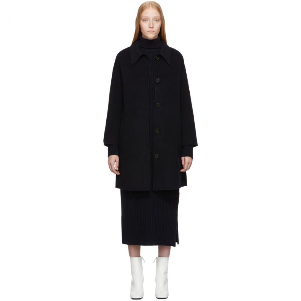 シチュアシオニスト The Loom レディース コート アウター【Navy Point Collar Coat】Navy