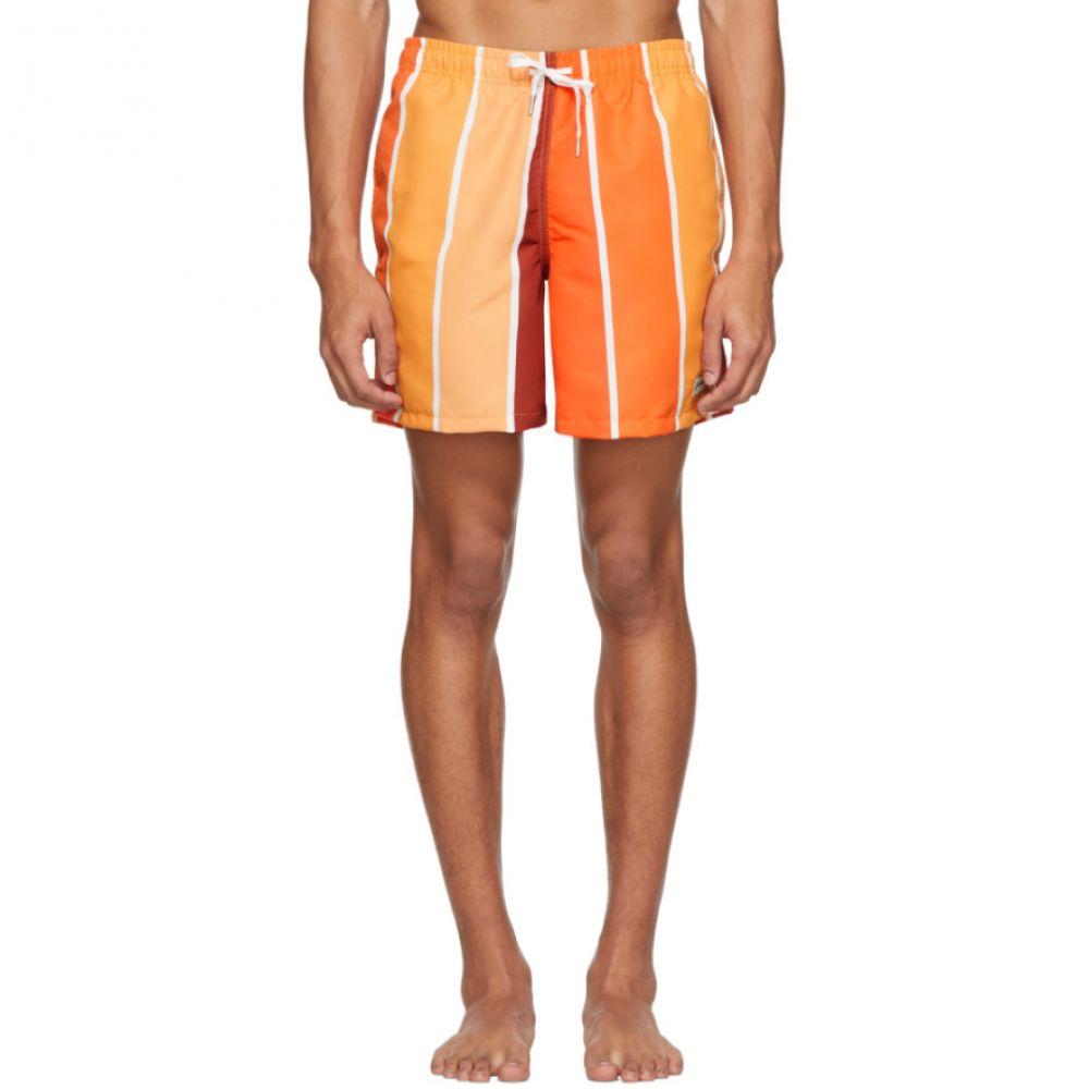 ベェイザァ Bather メンズ 海パン ショートパンツ 水着・ビーチウェア【Orange Striped Gradient Swim Shorts】Orange