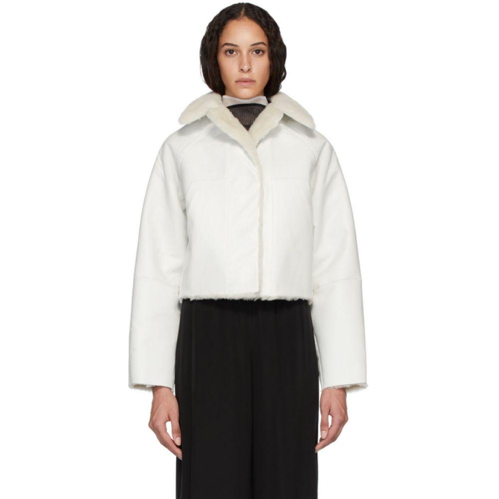カッスル エディションズ Kassl Editions レディース コート アウター【Reversible White Sheepskin Coat】White/Off-White