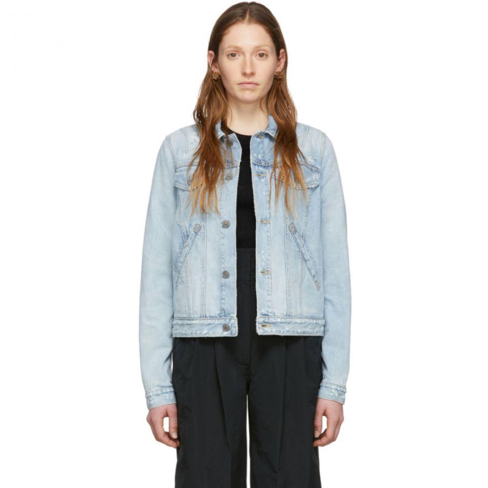 ジバンシー Givenchy レディース ジャケット Gジャン アウター【Blue Denim Stamped Logo Regular-Fit Jacket】Denim