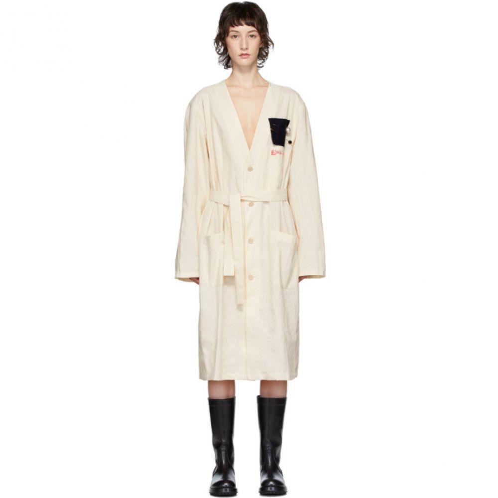 ラフ シモンズ Raf Simons レディース コート ラグラン アウター【Off-White Raglan Labo Coat】Ecru