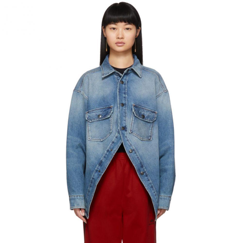 バレンシアガ Balenciaga レディース ジャケット デニム アウター【Blue Denim Canadian Swing Shirt】Light indigo