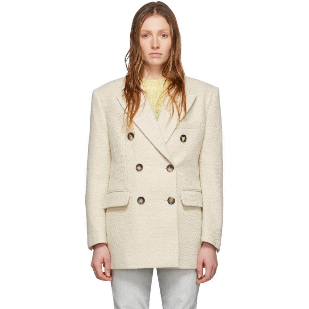 イザベル マラン Isabel Marant レディース コート アウター【Off-White Wool Hermina Coat】Off white