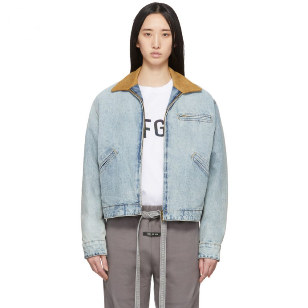 フィアオブゴッド Fear of God レディース ジャケット Gジャン ワークジャケット アウター【Blue Denim Work Jacket】Vintage indigo