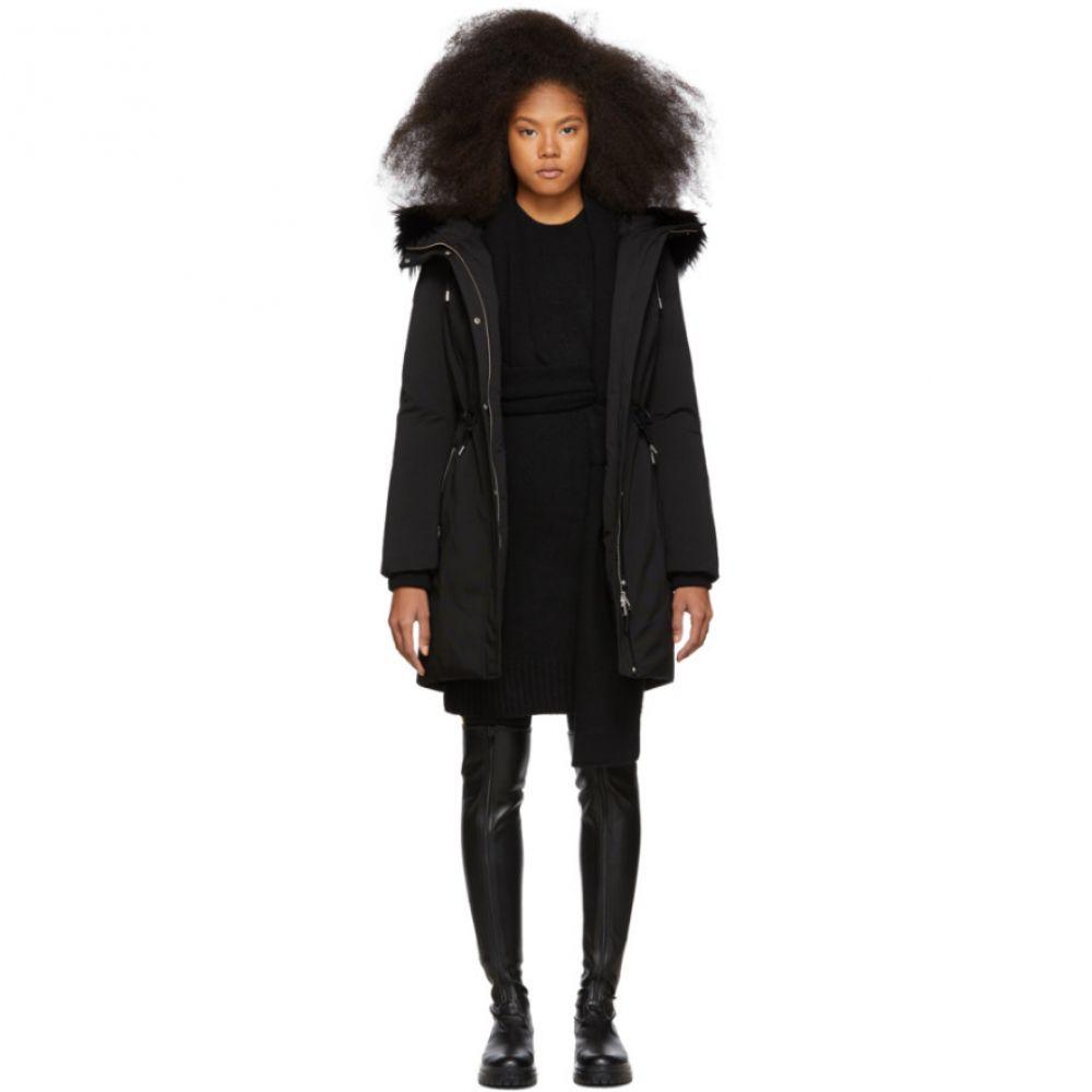 マッカージュ Mackage レディース ダウン・中綿ジャケット アウター【SSENSE Exclusive Black Down Anabel Coat】Black