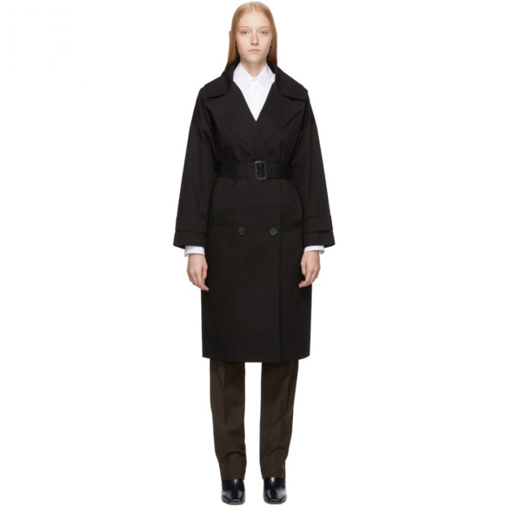 シチュアシオニスト The Loom レディース トレンチコート アウター【Black Oversized Trench Coat】Black