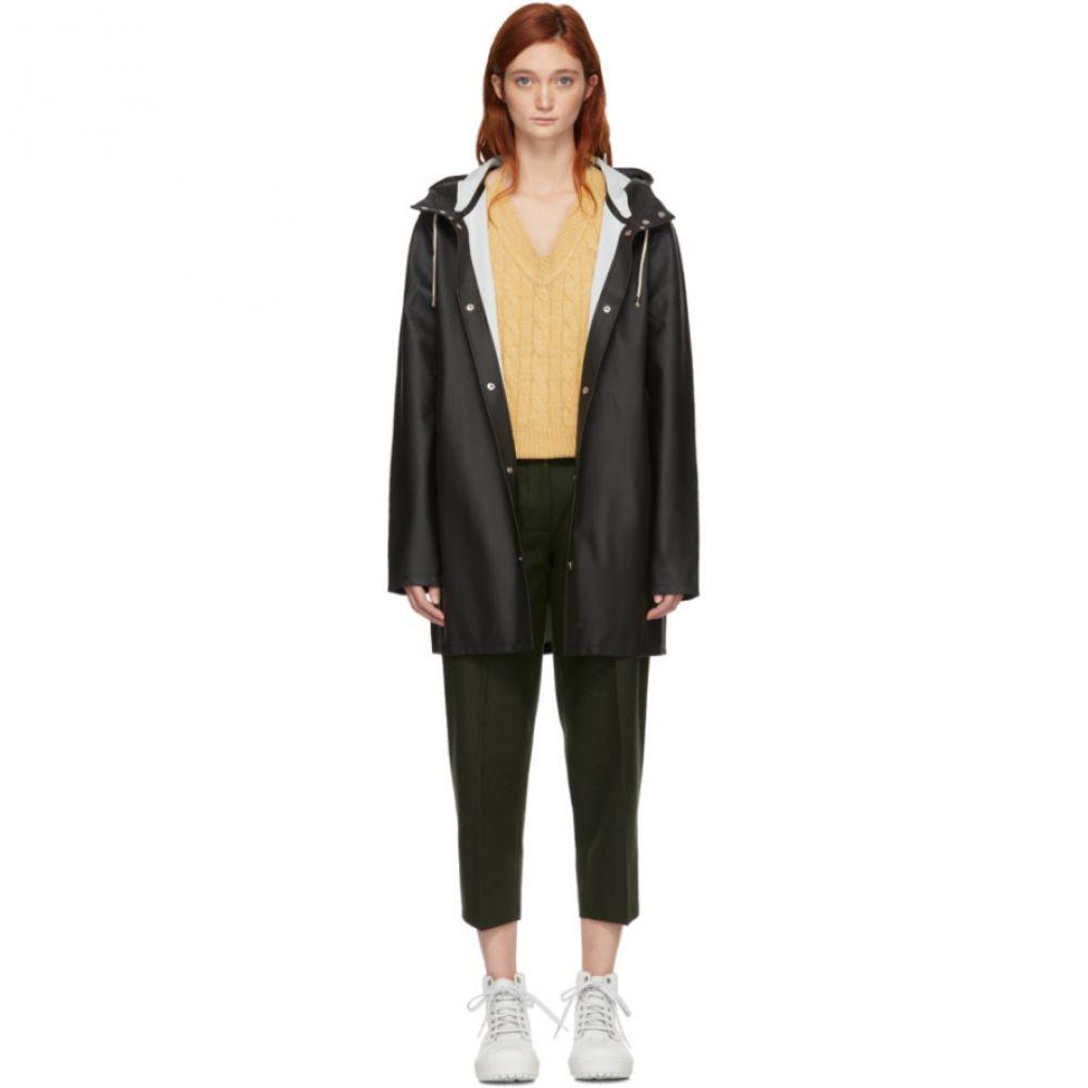 ストゥッテルハイム Stutterheim レディース レインコート アウター【Black Stockholm Raincoat】Black