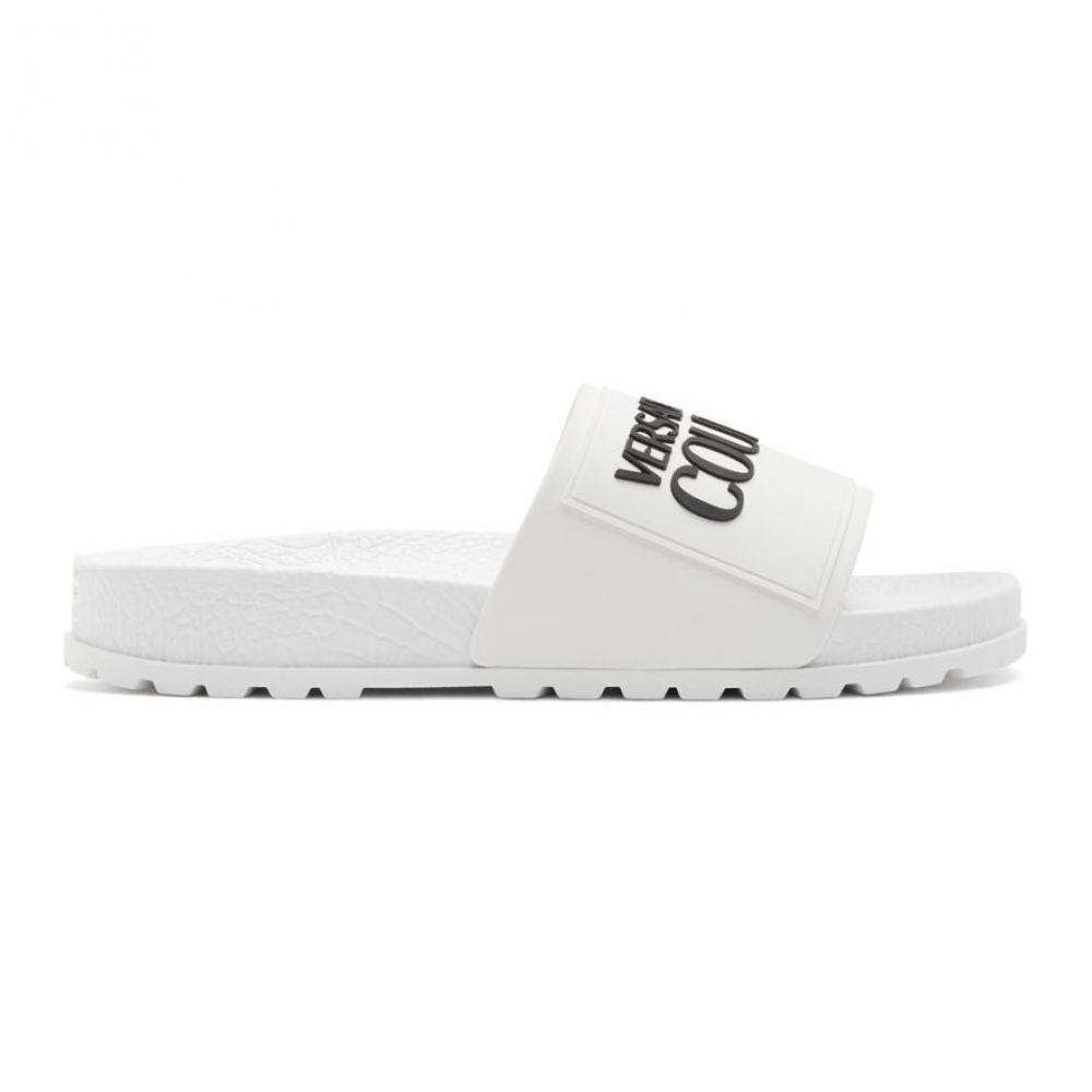 ヴェルサーチ Versace Jeans Couture レディース サンダル・ミュール シューズ・靴【White Logo Slides】White