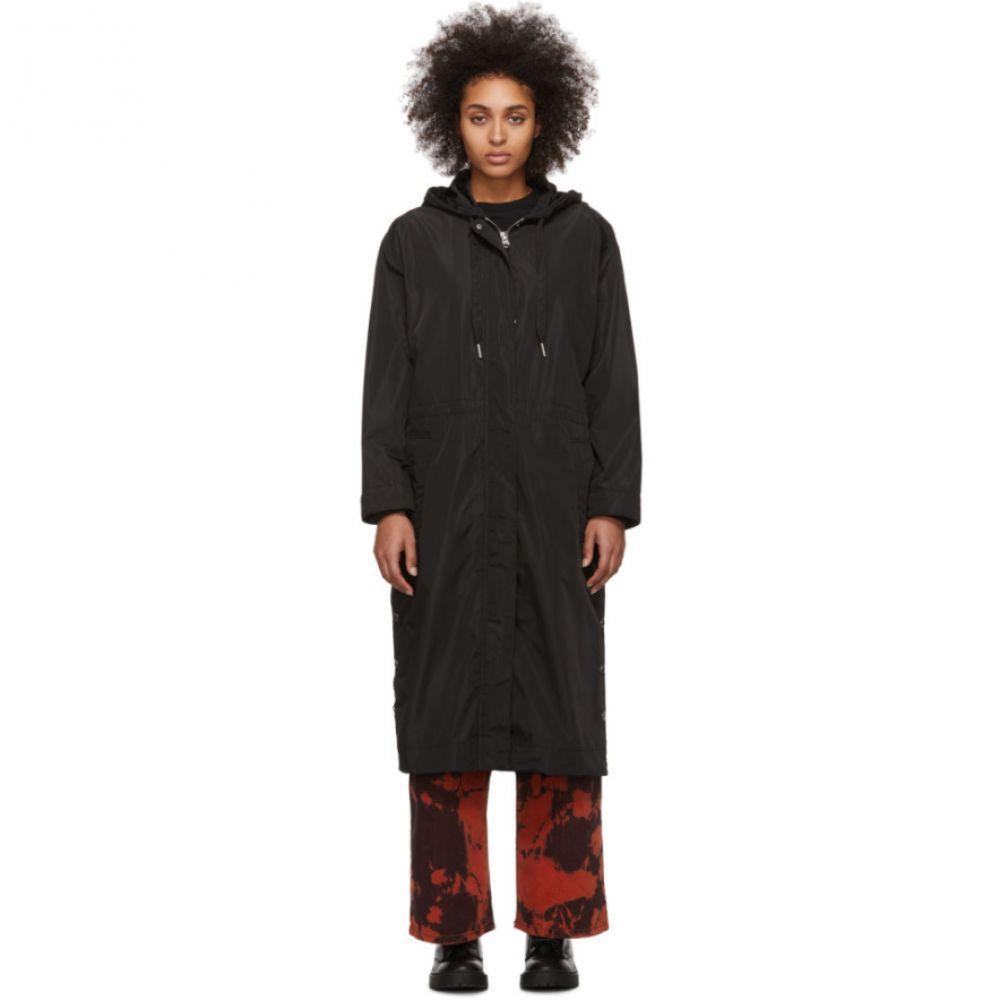 ケンゾー Kenzo レディース レインコート アウター【Black Waterproof Parka Raincoat】Black
