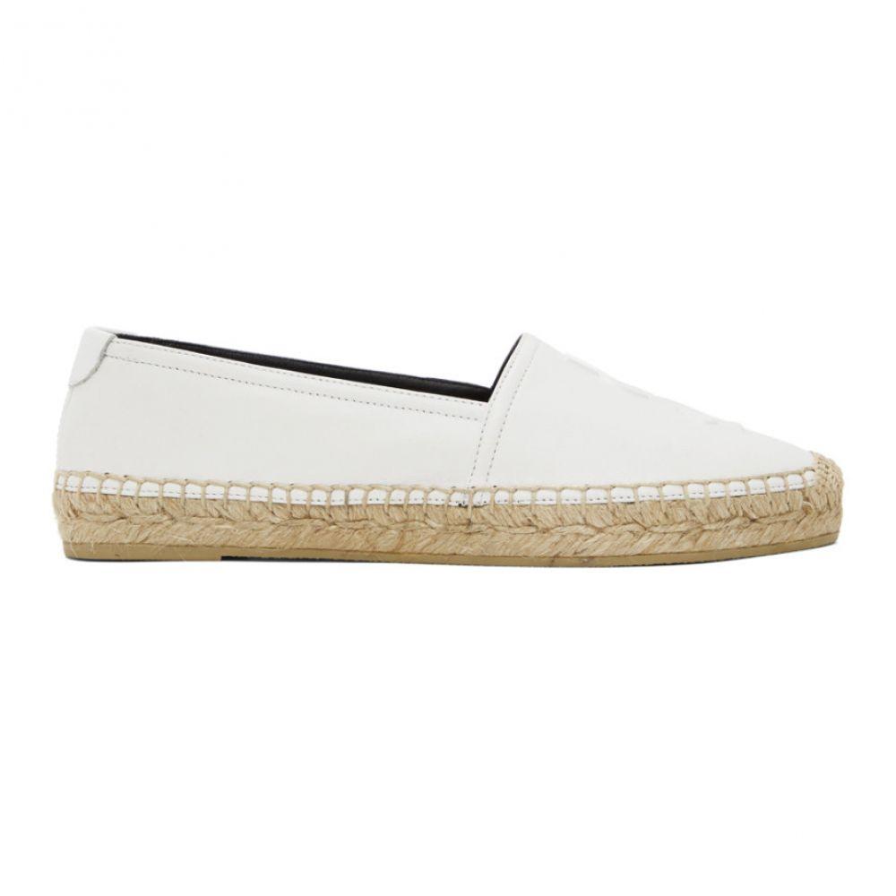 イヴ サンローラン Saint Laurent レディース エスパドリーユ シューズ・靴【White Monogramme Espadrilles】White