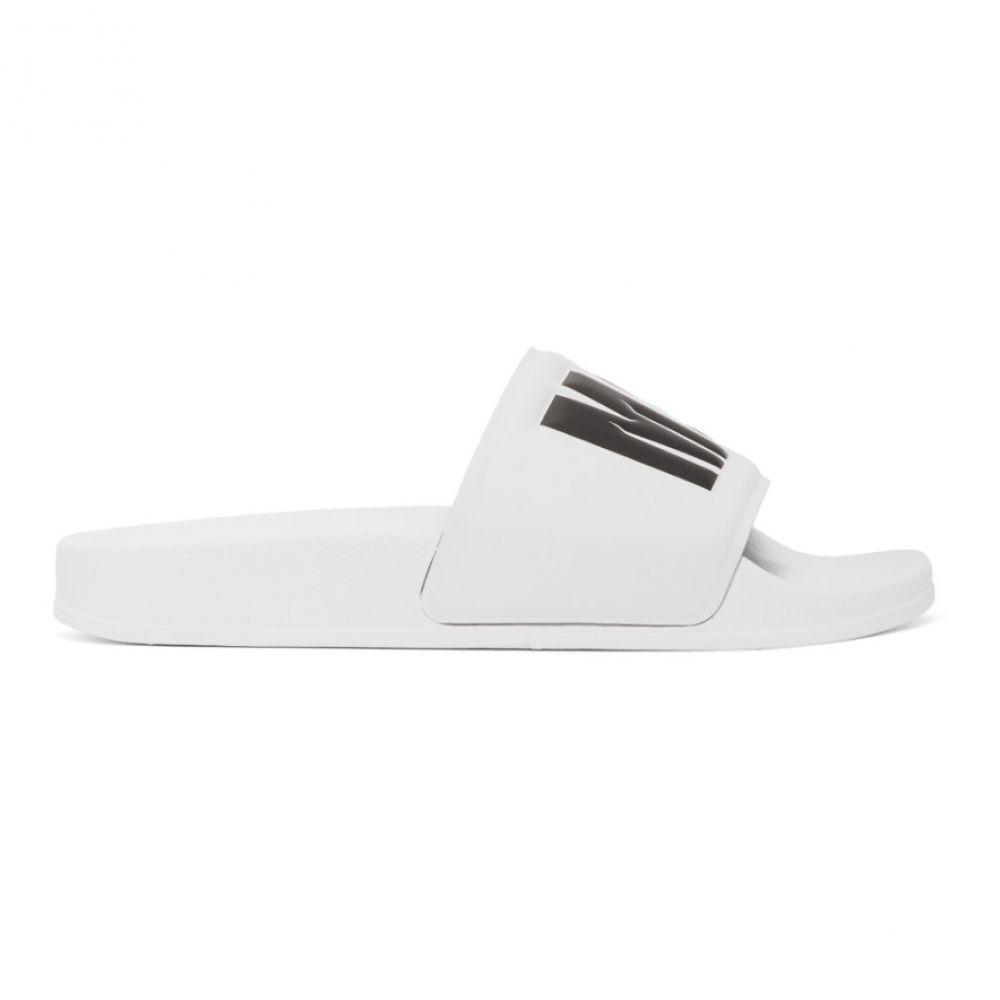 エムエスジーエム MSGM レディース サンダル・ミュール シューズ・靴【White Logo Pool Slides】White