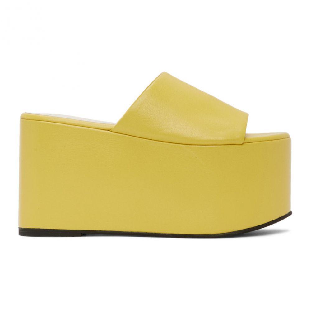 サイモンミラー Simon Miller レディース サンダル・ミュール シューズ・靴【Yellow Blackout Platform Sandals】Sea lemon