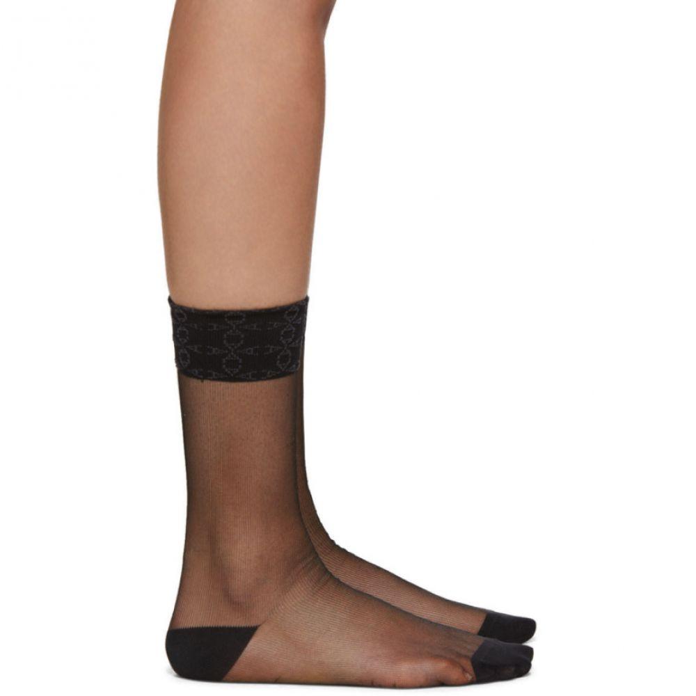 アリクス 1017 ALYX 9SM レディース ソックス インナー・下着【Black Transparent Socks】Black