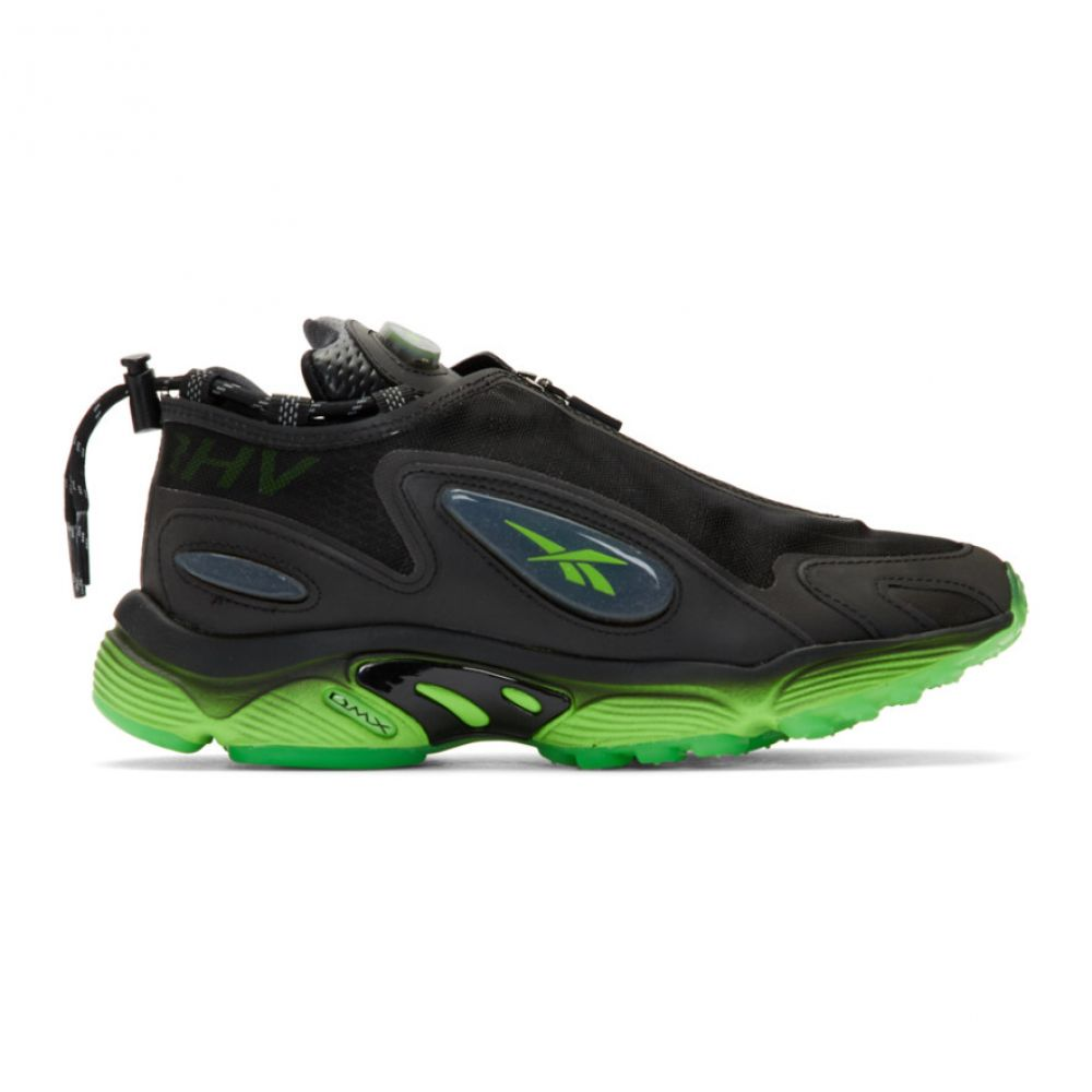 ミスビヘイブ MISBHV レディース スニーカー シューズ・靴【Black Reebok Edition Daytona DMX Sneakers】Black/Black/Green