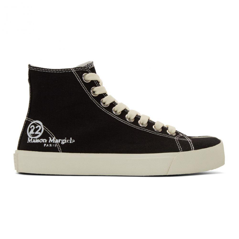 メゾン マルジェラ Maison Margiela レディース スニーカー シューズ・靴【Black Canvas Tabi High-Top Sneakers】Black