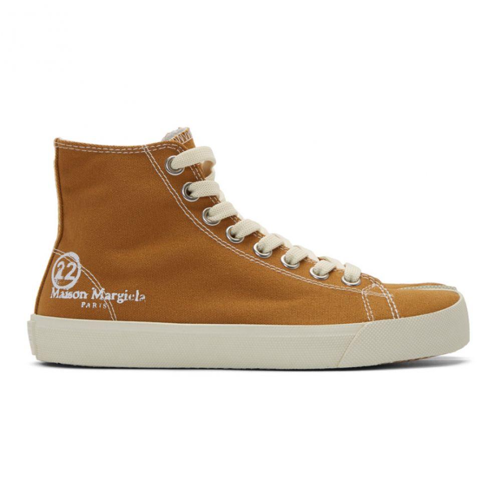メゾン マルジェラ Maison Margiela レディース スニーカー シューズ・靴【Tan Canvas Tabi High-Top Sneakers】Nude