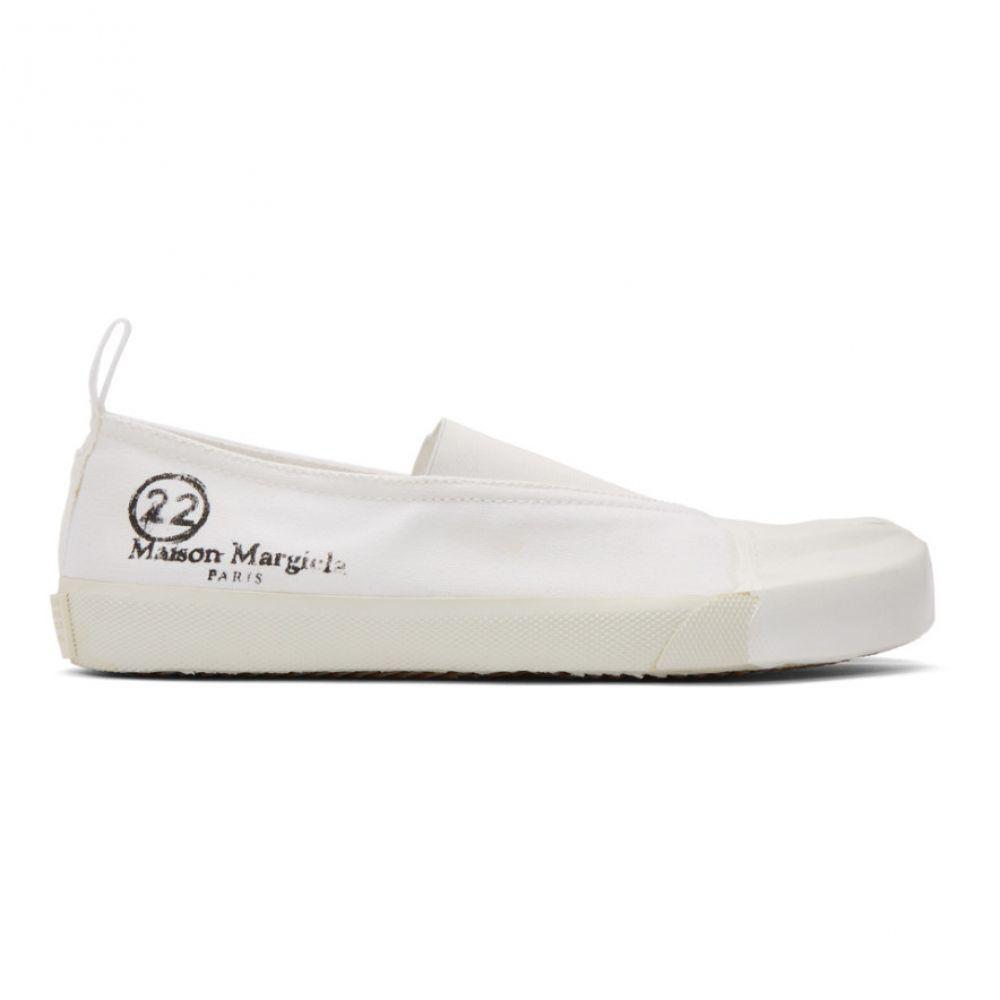 メゾン マルジェラ Maison Margiela レディース スニーカー シューズ・靴【White Vandal Tabi Sneakers】Dirty