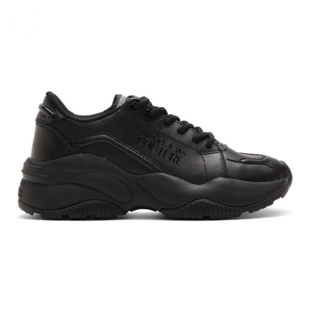 ヴェルサーチ Versace Jeans Couture レディース スニーカー チャンキーヒール シューズ・靴【Black Chunky Sole Sneakers】Black