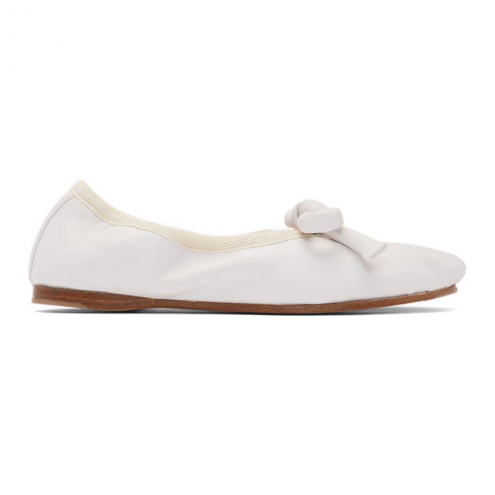 ランバン Lanvin レディース スリッポン・フラット シューズ・靴【White Knot Ballerina Flats】Optic white