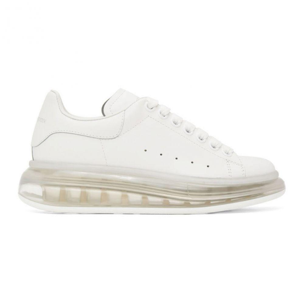 アレキサンダー マックイーン Alexander McQueen レディース スニーカー シューズ・靴【White Clear Sole Oversized Sneakers】White
