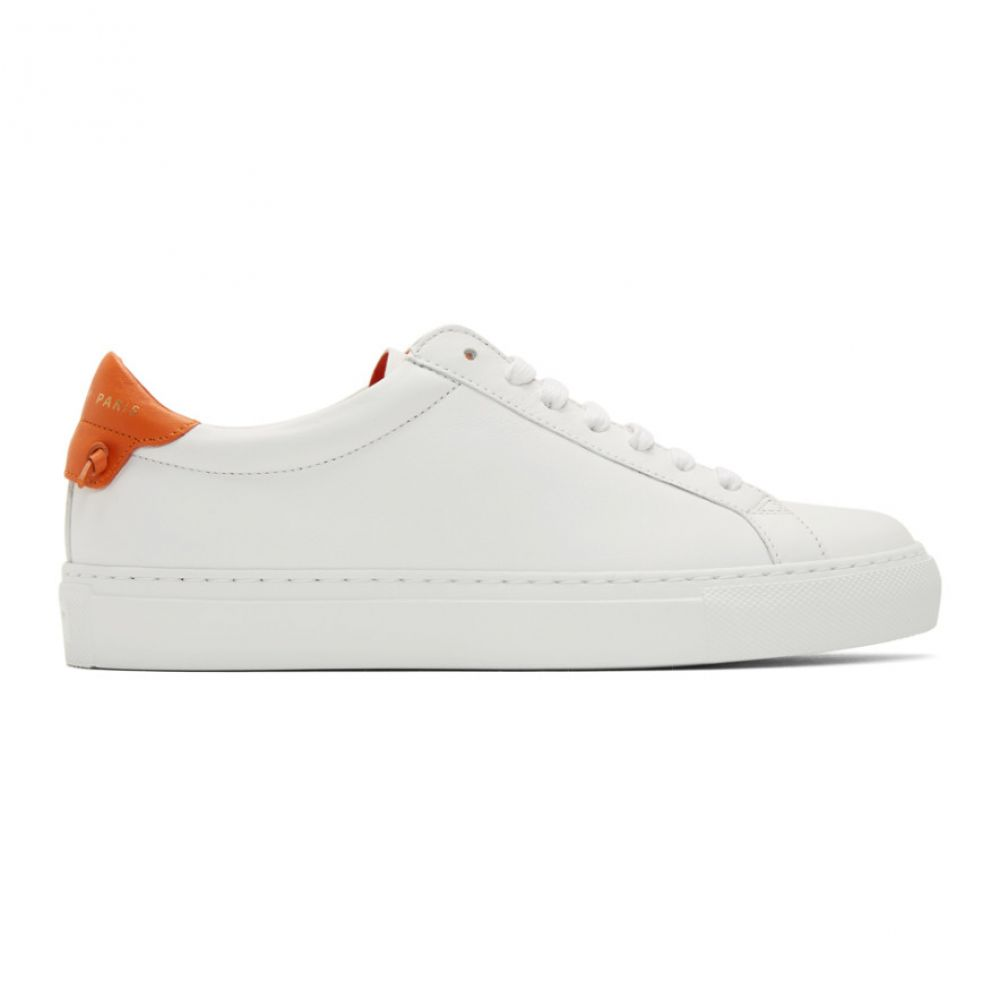 ジバンシー Givenchy レディース スニーカー シューズ・靴【White Urban Street Sneakers】White/Tangerine