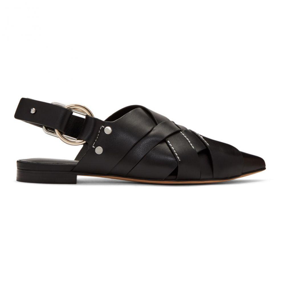 スリーワン フィリップ リム 3.1 Phillip Lim レディース スリッポン・フラット シューズ・靴【Black Woven Pointy Deanna Flats】Black