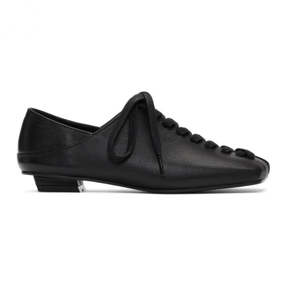 フラットアパートメント Flat Apartment レディース スリッポン・フラット シューズ・靴【Black Mary Jane Platform Ballerina Flats】Black