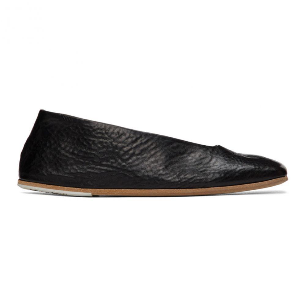 マルセル Marsell レディース スリッポン・フラット シューズ・靴【Black Square Spatolona Ballerina Flats】Black