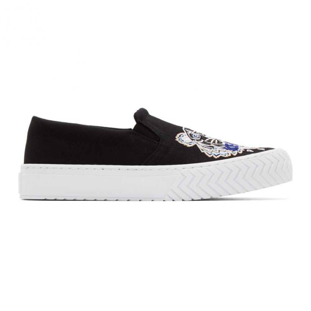 ケンゾー Kenzo レディース スリッポン・フラット シューズ・靴【Black Tiger K-Skate Slip-On Sneakers】Black