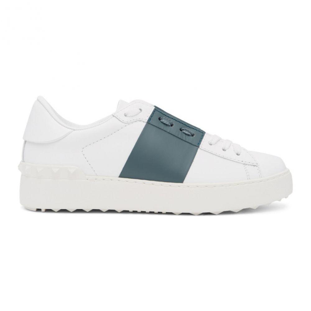 ヴァレンティノ Valentino レディース スニーカー シューズ・靴【White & Blue Garavani Open Sneakers】White/Amadeus