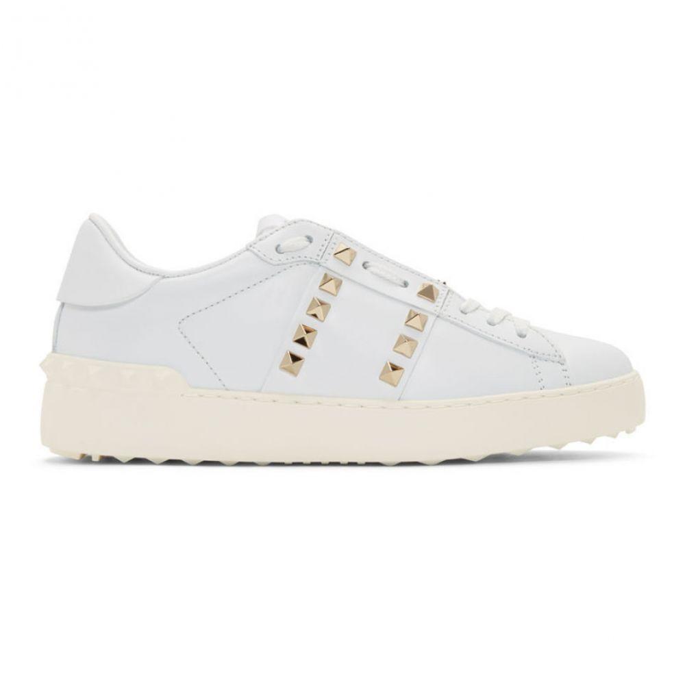 ヴァレンティノ Valentino レディース スニーカー シューズ・靴【White Garavani Rockstud Untitled Sneakers】White/White