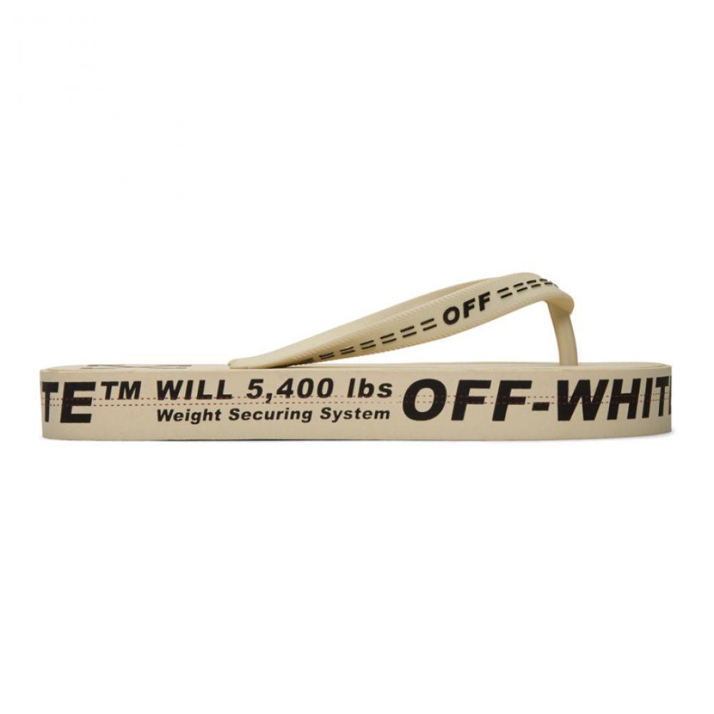 オフホワイト Off-White レディース ビーチサンダル シューズ・靴【Beige Logo Flip Flops】Beige