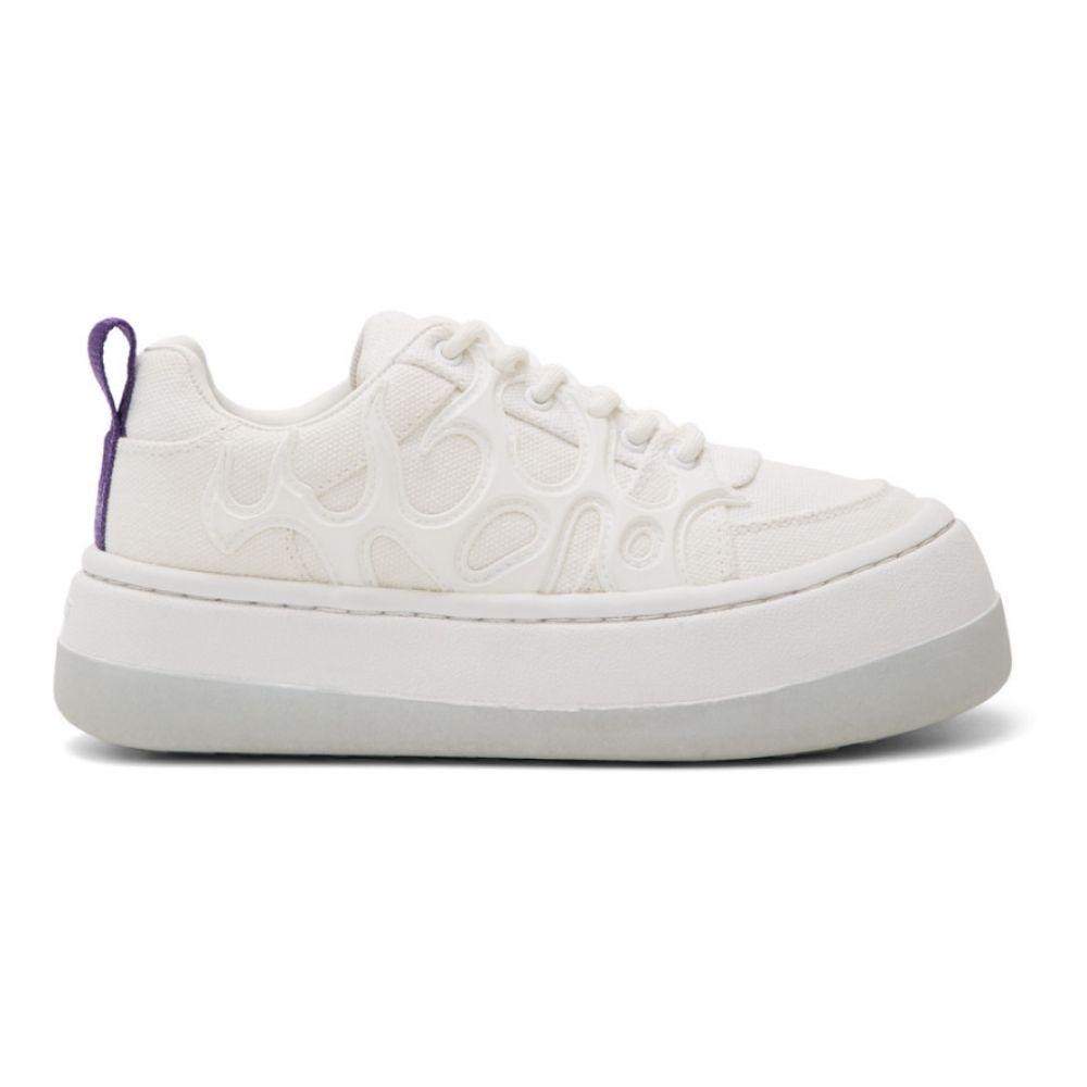 エイティーズ Eytys レディース スニーカー シューズ・靴【White Canvas Sonic Sneakers】Bright white