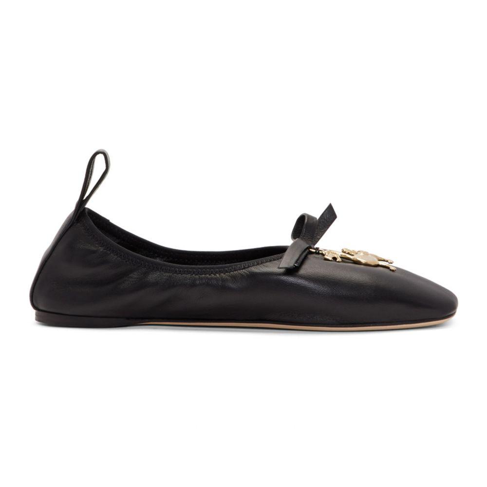 ロエベ Loewe レディース スリッポン・フラット シューズ・靴【Black William De Morgan Dodo Ballerina Flats】Black