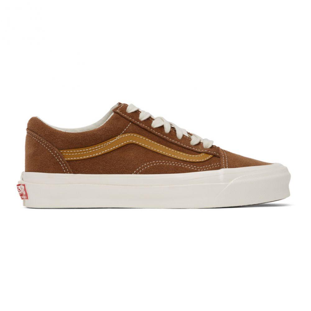 ヴァンズ Vans レディース スニーカー シューズ・靴【Brown & Tan OG Old Skool LX Sneakers】Dachshund