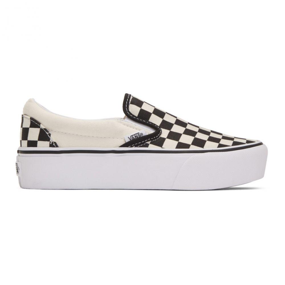 ヴァンズ Vans レディース スリッポン・フラット シューズ・靴【Black Checkerboard Classic Slip-On Sneakers】Black/White