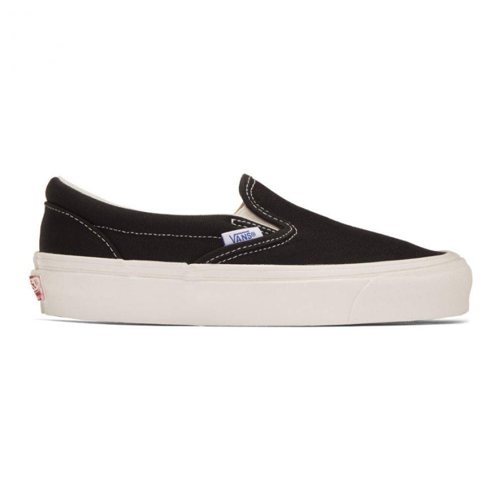 ヴァンズ Vans レディース スリッポン・フラット シューズ・靴【Black OG Classic Slip-On Sneakers】Black