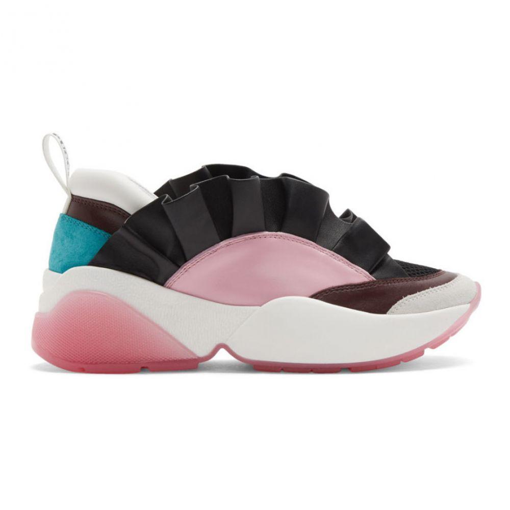 エミリオ プッチ Emilio Pucci レディース スニーカー シューズ・靴【Black & Pink Ruffled Jungle Joy Sneakers】Black