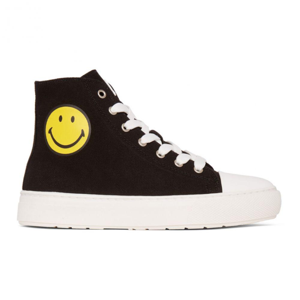ジョシュア サンダース Joshua Sanders レディース スニーカー シューズ・靴【Black Smiley Edition High-Top Sneakers】Black