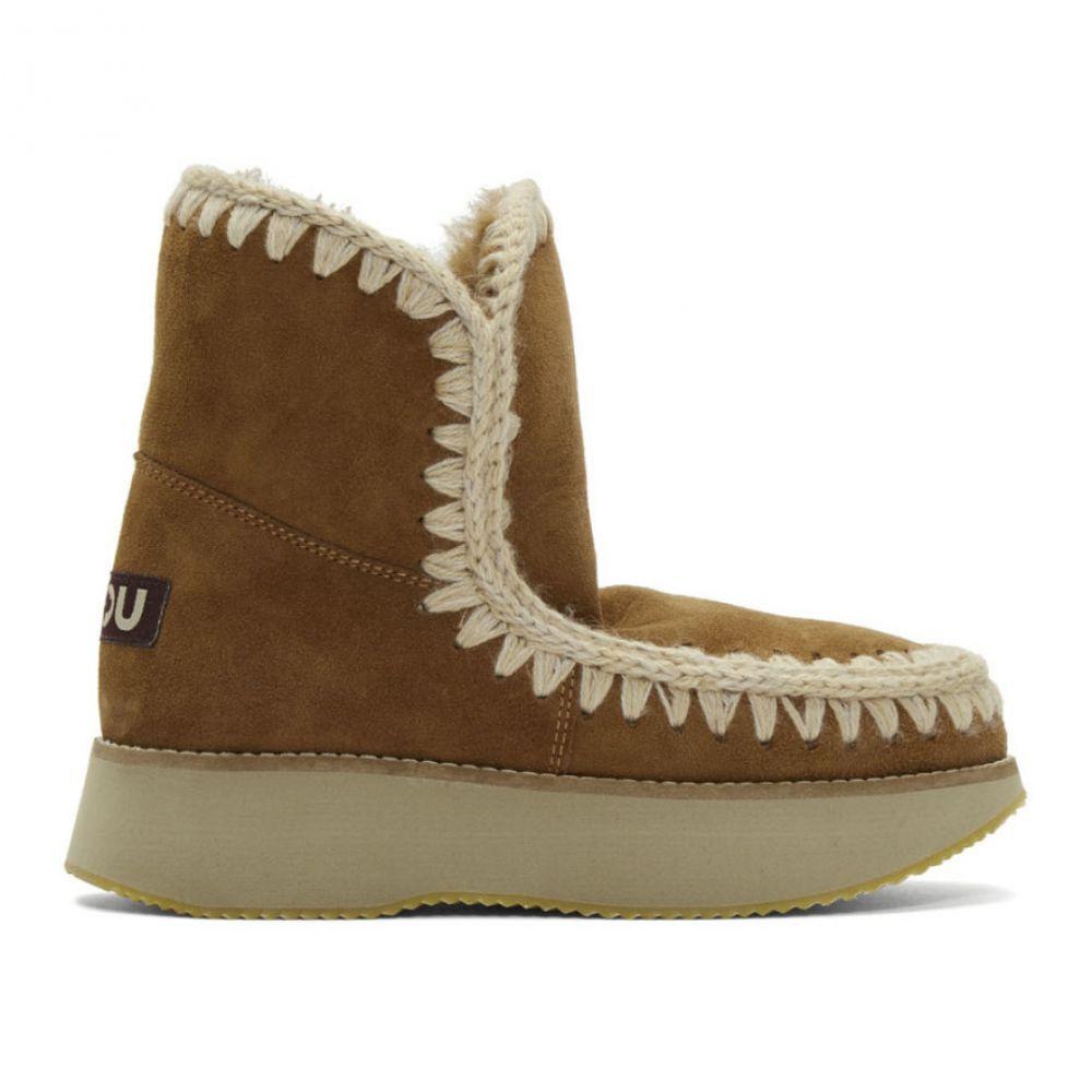 ムー Mou レディース ブーツ シューズ・靴【Brown Running 18 Boots】Cognac